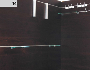 Deska Barlinecka - montaż na ścianie - efekt końcowy.