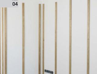 Montaż deski barlineckiej na ścianie - odległość między łatami : 50 cm