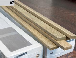 Montaż deski barlineckiej na ścianie : aklimatyzacja desek - 48 h